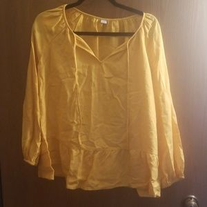 Yellow peasant style top NWT